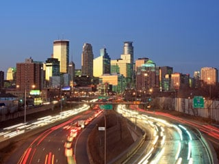 Minneapolis is one of six cities that will test V2V technology (© Hemera / Thinkstock)