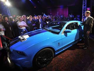 The 2013 Shelby GT500 (both photos ©Ford Motor Company)