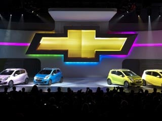 The Spark will come in Lemonade, Techno Pink, Denim, Jalapeno & Salsa colors. (©Steve Fecht for Chevrolet/GM Corp.)