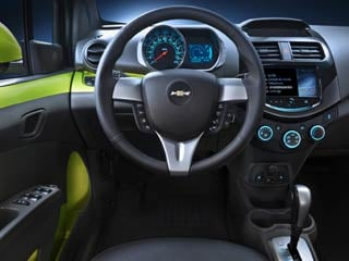"The instrument cluster is an even simpler version of the ""motorcycle inspired"" cluster also used in the Sonic. (©GM Corp.)"