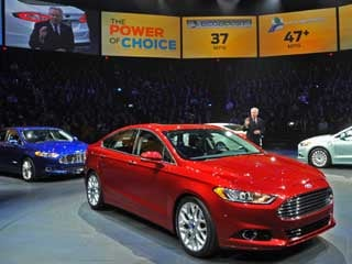 The 2013 Fusion is introduced in Detroit. (©Ford Motor Company)