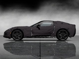 Easily one of the most anticipated cars of the show, Chevrolet's seventh-generation Corvette will be bowing in Detroit. (©GM Corp.)