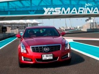 The 2013 Cadillac ATS is introduced in Abu Dhabi. (©General Motors)
