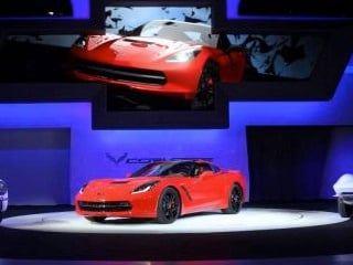 The 2014 Corvette Stingray debuts at the North American International Auto Show in Detroit in January. (© General Motors/Photo by John F. Martin for Chevrolet)